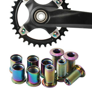 5x Stahl Kettenblattschrauben Muttern Fahrrad Kettenblattschrauben Anti Rost