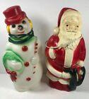 Vintage Empire Christmas Blow Molds 1968 Santa Snowman Light Up 13 Inch