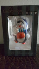 Celebrations by RADKO Penguin blown glass Christmas ornament 25th Anniversary BN