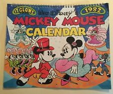 1982 Walt Disney's Mickey Mouse Calendar Glow In The Dark
