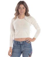 Maglia Maglietta Liu Jo Sweater Pullover Donna Bianco C18035MA97G 14800