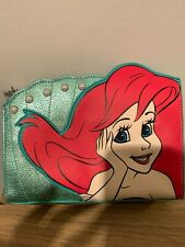 NEW with tags Disney Spectrum Arial green pearl sparkle make up bag