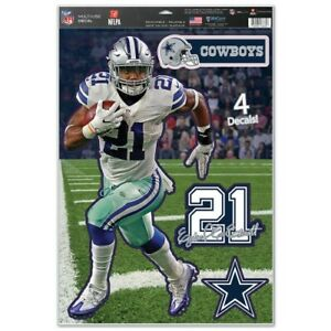 "EZEKIEL ELLIOTT DALLAS COWBOYS MULTI-USE DECALS 11""X17"" LIKE A FATHEAD NFL"