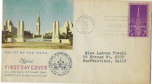 '39 FDC Golden Gate Expo  1st Cachet Golden Gate International Expo SC#852 CV$35