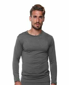 UltraDry Men Thermal Underwear Top by Outland; Base Layer; Soft Large Grey