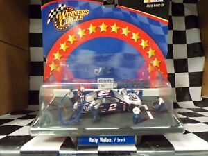 Rusty Wallace #2 Mobil 2002 Ford Taurus 1:64 scale Pit Row-Level Winners Circle