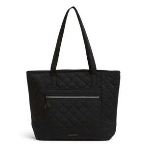 NWT Vera Bradley VERA TOTE Bag Performance Twill  Black / Water Repellant
