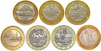 ✔ Russia 10 rubles rouble 2003 2004 Full Set Year 7 Pcs