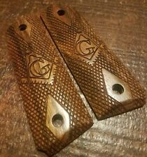 Full size 1911 Caribbean Rosewood Grips with Masonic Symbol - Free Mason