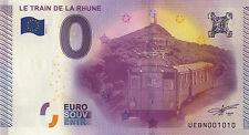 64 TRAIN DE LA RHUNE BILLET 2015 ZERO 0€ EURO SOUVENIR PAS BANKNOTE COINS MEDALS