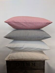 """Large Pinstripe 22"""" Cushion Covers - Professionally Made (Variety of Colours)"""