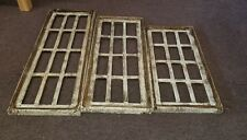 3 Piece Architectural Wood  Window Frames Wall Decor Set  square set