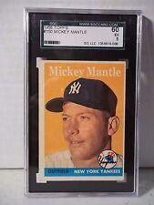 1958 Topps Mickey Mantle SGC EX 5 Baseball Card #150 MLB HOF Collectible