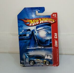 2007 Blue '69 Dodge Charger Daytona Code Car Hot Wheels Diecast