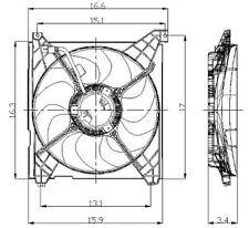 Global Parts Distributors 2811307 Radiator Fan Assembly