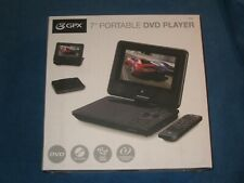 "GPX PD701B 7"" Portable Rechargeable DVD Player w/Built-in Speakers & Remote,New!"