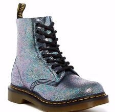 DR MARTENS WOMENS PASCAL GREY MIRROR BOOTS US 6 UK 4 NEW IN BOX LAST PAIR