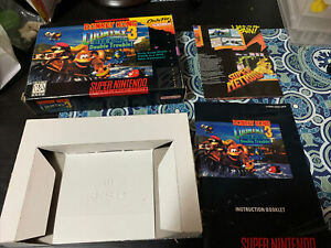 RARE Donkey Kong Country 3 SNES BOX AND BOOKLET POSTER ONLY NO GAME FREE SHIP