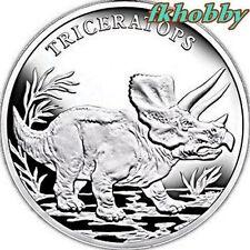 Poland 2009 silver Dinosaur Triceratops