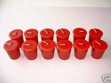 Votive Candles - Hand Poured - 12 Red Unscented