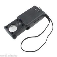 Joyeros Lente Lupa Lupa Iluminada Luz Microscopio de Bolsillo Mini