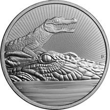 2 OZ Crocodile & Baby Next Generation Piedfort Australia .999 Silver IN CAPSULE