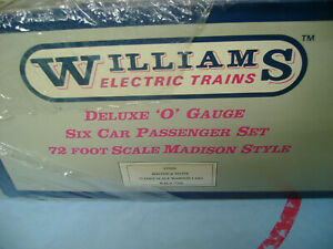 WILLIAMS O SCALE SM203 BOSTON & MAINE 6 CAR PASSENGER TRAIN SET WAL#77203 SEALED
