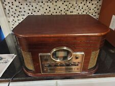 Crosley Cr247 Cd Recorder, Vinyl, Cassette, and Cd Player, Fm, Am. With Remote