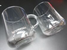 Lot of 2 New Nespresso Vertuo Tempered Glass Coffee Mugs Made in France 13.2 OZ!