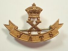 India:10th Jats original Victorian Officers Gold Coloured Badge.