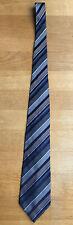 Racing Green Neck Tie 100% Pure Silk Blue Stripe Width 4 In