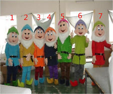 Adult Size Suit Snow White Seven Dwarfs Mascot Costume EPE Head+Fast Shipping