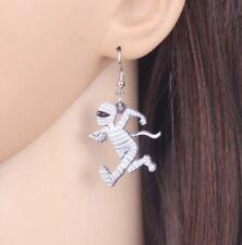 Running Mummy Halloween Silver T Zombie Egypt Ear Drop Earrings Ear Rings ER69
