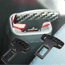 2PCS Universal carbon fiber car safety seat belt buckle alarm stopper clip clamp