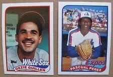 1989 Topps Baseball 2 Wrong Back Error Cards PASCUAL PEREZ & OZZIE GUILLEN
