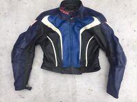 dainese ladies leather motorcycle jacket size uk 10