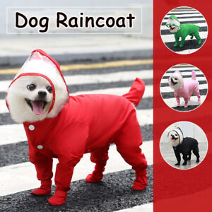 New Waterproof Pet Dog Raincoat Rain Boot Clothes Puppy Cat Jumpsuit Coat Outfit