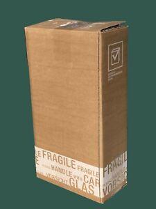 2er PTZ WEINVERSANDKARTON für 2 Flaschen Wein Karton Flaschen Versandkarton NEU