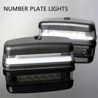 2X 12V 6 LED REAR LICENSE NUMBER PLATE LIGHT LAMP TRUCK CARAVAN TRAILER