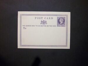 GB Postal Stationery 1870 QV 1/2d lilac Postcard size e unused H&B CP1