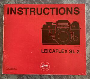Leicaflex SL 2 Instruction Booklet In English