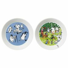 Moomin Collector's edition plate 2-pack 2016: Blue & Tove 100 *NEW