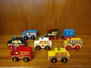 Montgomery Schoolhouse Wooden Vehicles, Lot of 8