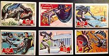 """1966 TOPPS SCANLENS ORIGINAL BATMAN RED """"A"""" CARDS - LOT 1 SIX CARDS EXC-NM COND."""