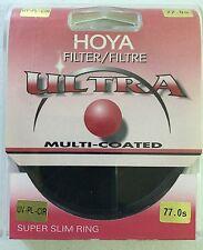 HOYA 77.0s UV CIR-PL Ultra-SUPER SLIM RING Circular Filter MULTI COATED SEALED