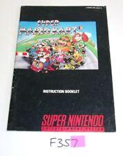 SUPER MARIO KART Super Nintendo SNES -MANUAL ONLY- No Game