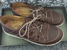 Josef Seibel brown shoes size 38 (5) cut out lace up **