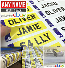 PAIR Personalised Kid's GB NUMBER PLATES FOR CHILDS RIDE ON CAR JEEP, TRUCK XMAS