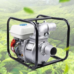 "Gasoline Water Pump, 7.5 HP 210CC 3"" Portable Gas-Powered Semi-Trash Water Pump"