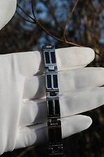 Neues Magnetarmband Edelstahlarmband Armband silber schwarz Germanium 20,7 cm